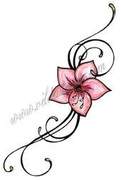 Long floral swirl