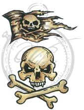 Skull  & Jolly roger