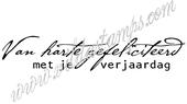"""""""Happy Birthday""""  (Dutch)"""