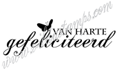 """Congratulations""  (Dutch)"