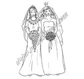 Girl newlyweds