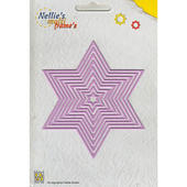 Nellies Multi Frame Die - Straight Star
