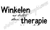 """Shopping is better than therapy"" (Dutch)"