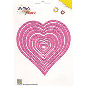 Nellies Multi Frame Die - Wavy Heart