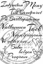 Weddinglyrics A6 (swedish)