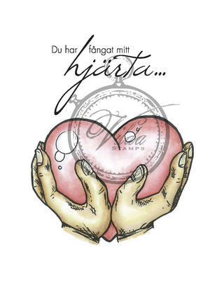 Hands with hearth Swedish Lyrics: you have caught my heart