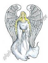 Angel with large wings