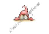 Boy-elf peeking up
