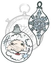 Santa  and oval christmas ball