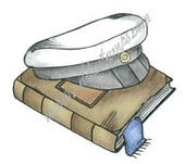 Student hat with book