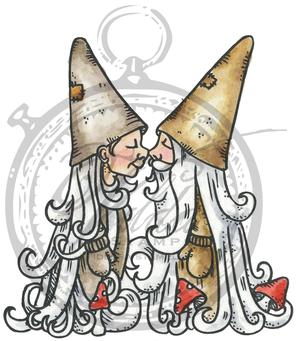 Gnomes kissing
