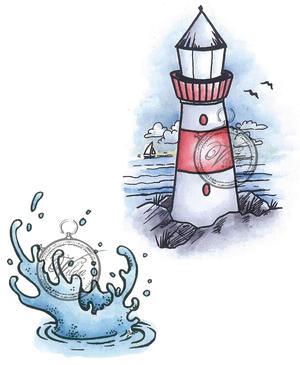 Lighthouse and splasch