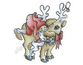 Reindeer brush