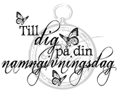 To you on your namegivingsday (Swedish)