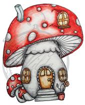 Dotted mushroom cottage