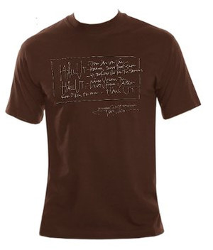 TOMAS LEDIN - T-SHIRT, HÅLL UT (BROWN)