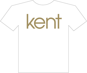KENT - T-SHIRT, GULD LOGO 2012 (VIT)