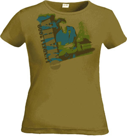 ULF LUNDELL - LADY T-SHIRT, ARMY -09