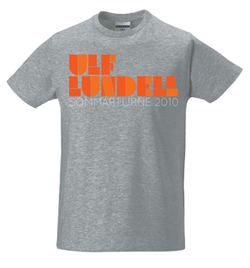 ULF LUNDELL - T-SHIRT, ORANGE LOGO -10