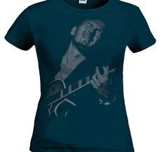 TOMAS LEDIN - LADY T-SHIRT, PLAYING GUITAR (NAVY)
