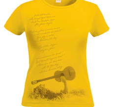 TOMAS LEDIN - LADY T-SHIRT, SOMMAREN R KORT (GUL)