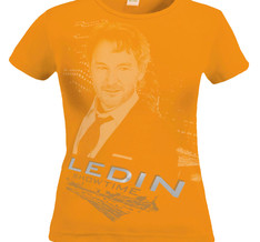 TOMAS LEDIN - T-SHIRT DAM, LEDIN - SHOWTIME (ORANGE)