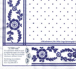 Barbro Sandell. Dinner napkins 18th century pattern
