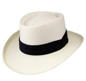 Panama-hatt Gambler benvit