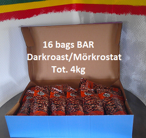 16bags a' 250g BAR Harrar Dark Roast Whole Beans