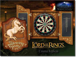 Prancing pony dartboard set