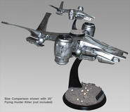 "Flying Hunter Killer 60"" studio scale statue"