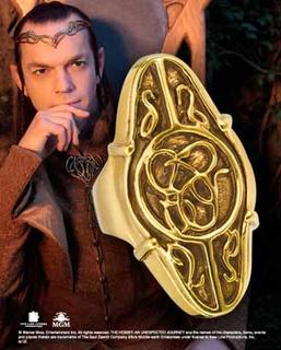 The Hobbit: Elrond Ring Gold Council size 12