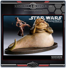 Princess Leia VS Jabba The Hutt Diorama
