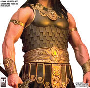 Conan Breastplate, Crown and Tunic Set