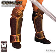 Conan Greaves and Boot Armor Set