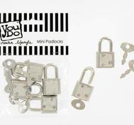 You Do Buttons - Mini Padlocks with Keys