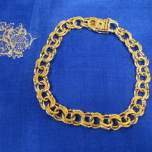 Armband i 18K guld.Modell:Bismarc.Kraftigt och gediget armband.
