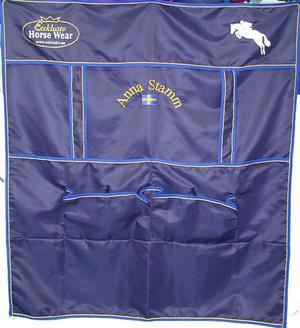 Boxgardin marinblå modell 4