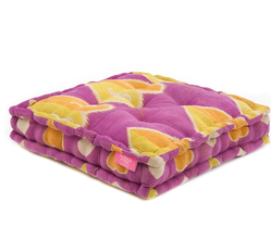 Floor Cushion - Hyacinth Violet / Mimosa