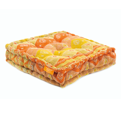 Floor Cushion - Apricot / Russet Orange