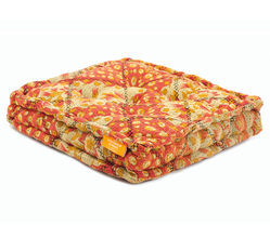 Floor Cushion - Faded Rose / Ochre