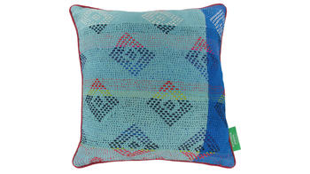 Vintage pillow - Milky Blue