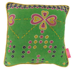 Vintage pillow - Green Flash