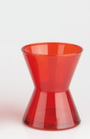 Spittoon in red glass small