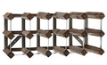 Traditional Wine Rack Trend 15 bottles kit Weathered oak