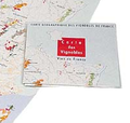 Folded French wine map