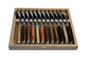 Laguiole soupspoons 12 pc wood