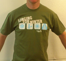 "T-shirt ""Longing for winter"""