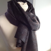 Scarf gray/brown wool