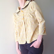 "Jacket ""Viola"" yellow pattern size 36/38"